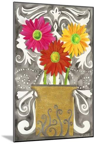 3 Tin Flowers-Kaeli Smith-Mounted Art Print