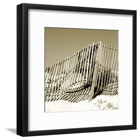 Fences in the Sand II-Noah Bay-Framed Art Print