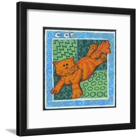 Whimsical Cat--Framed Art Print