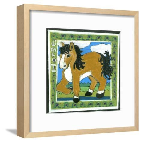 Whimsical Horse--Framed Art Print