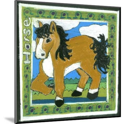 Whimsical Horse--Mounted Art Print