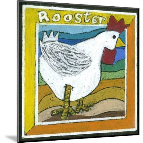 Whimsical Rooster--Mounted Art Print
