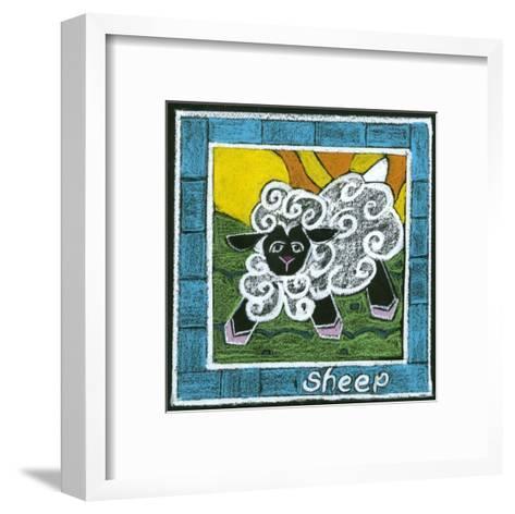 Whimsical Sheep--Framed Art Print