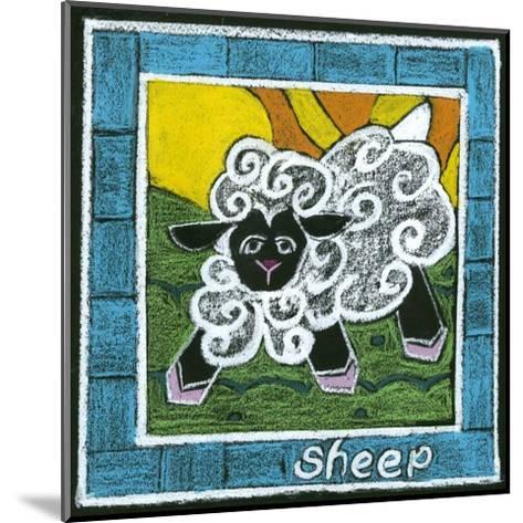 Whimsical Sheep--Mounted Art Print