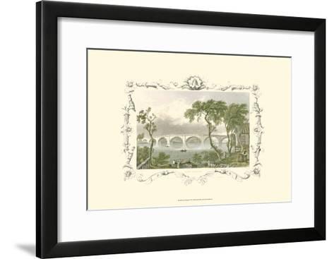 Kew Bridge-William Tombleson-Framed Art Print