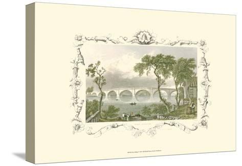 Kew Bridge-William Tombleson-Stretched Canvas Print