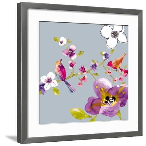Blossom Birds II-Sandra Jacobs-Framed Art Print