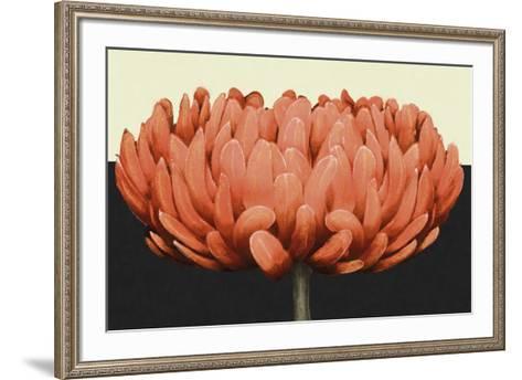 Apricot Flame II-Linda Wood-Framed Art Print