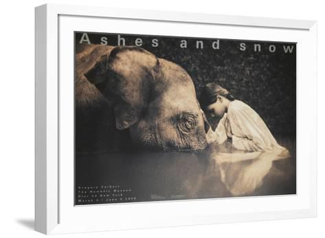 Girl with Elephant-Gregory Colbert-Framed Art Print