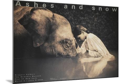 Girl with Elephant-Gregory Colbert-Mounted Art Print