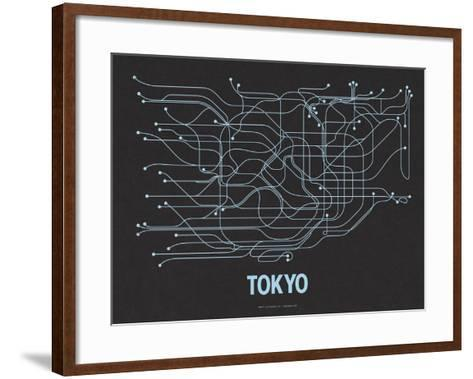Tokyo (Black Licorice & Light Blue)-LinePosters-Framed Art Print