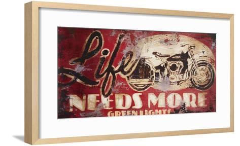 Green Lights-Rodney White-Framed Art Print