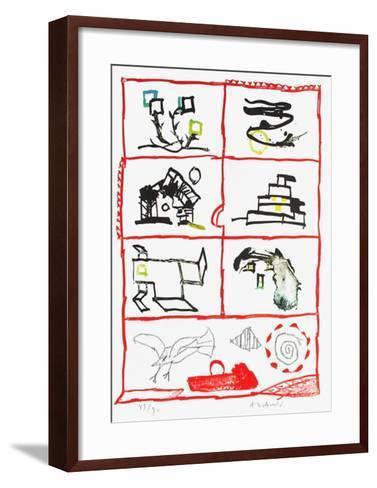 Cherbourg-Pierre Alechinsky-Framed Art Print