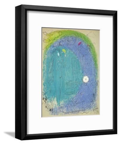 Vision de Paris Notre Dame-Marc Chagall-Framed Art Print