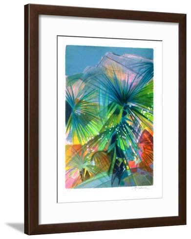 Côte D'Azur - Les Jardins Exotiques De Monaco-Camille Hilaire-Framed Art Print