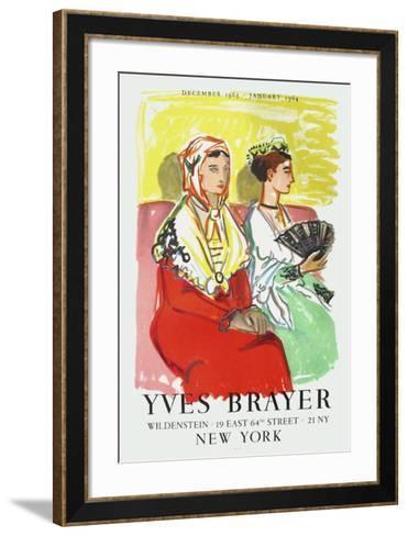 Les Arl?siennes Aux Robes De Couleur-Yves Brayer-Framed Art Print