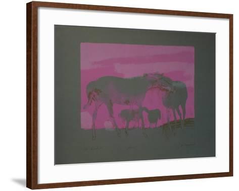 Les Chevaux Blancs-Paul Guiramand-Framed Art Print