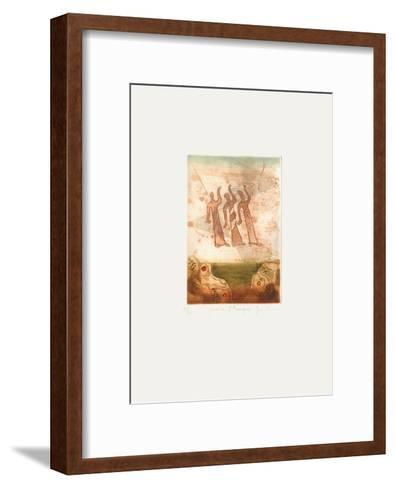 Voyage Au Del? De La Terre III-Ren? Carcan-Framed Art Print