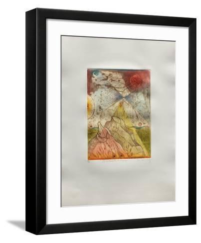 Les V?tements En Voyage-Ren? Carcan-Framed Art Print