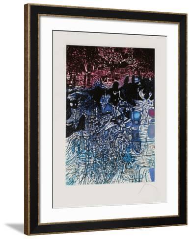 Nuit de l'eau-Mario Prassinos-Framed Art Print