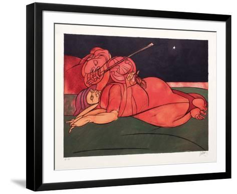 L'?toile Du Matin-Valerio Adami-Framed Art Print