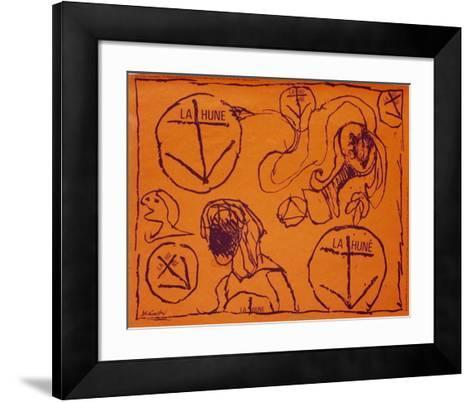 Expo La Hune II-Pierre Alechinsky-Framed Art Print