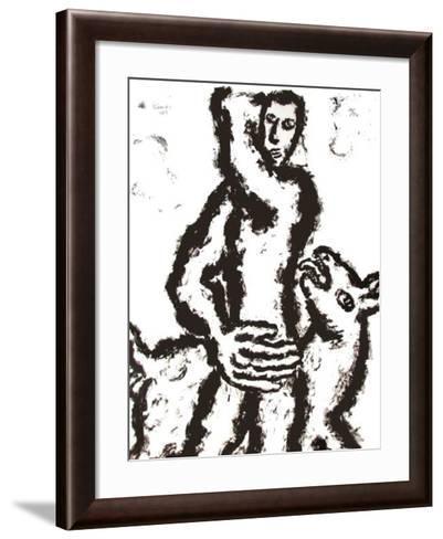 Homme Et Chien IV-Pavlos Habidis-Framed Art Print