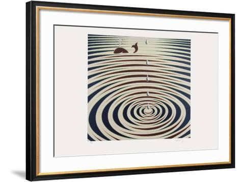 Origines - Etude de mouvement-Victor Vasarely-Framed Art Print