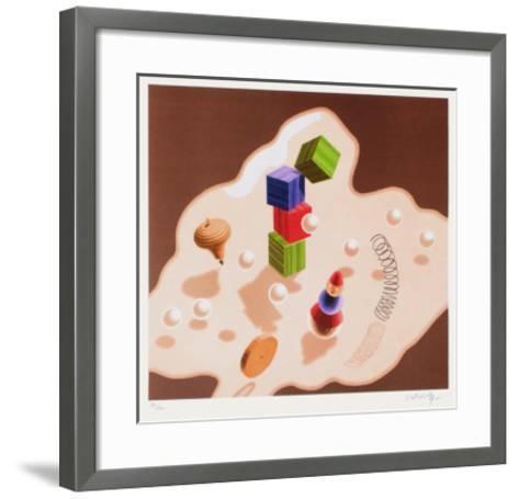 Origines - Jouets-Victor Vasarely-Framed Art Print