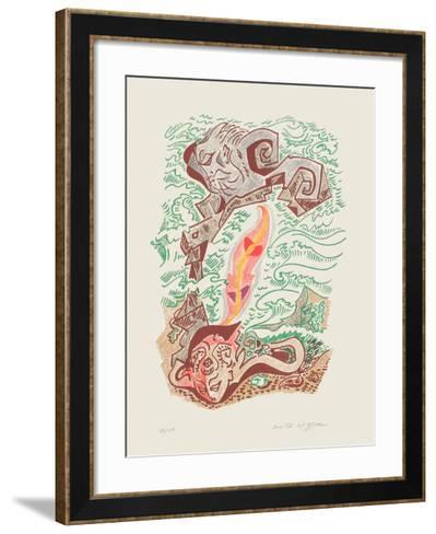 Sonnets De Louise Labbé 07-Andr? Masson-Framed Art Print