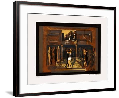 Soir?e tango-Carlos Torrallardona-Framed Art Print
