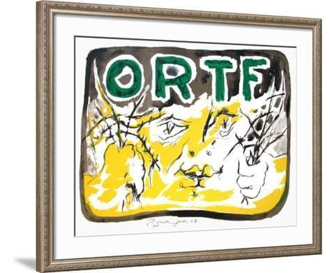 Soutien ? l'ORTF-Edouard Pignon-Framed Art Print