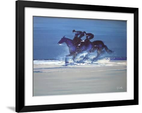 c - Entrainement ? Deauville III-Victor Spahn-Framed Art Print
