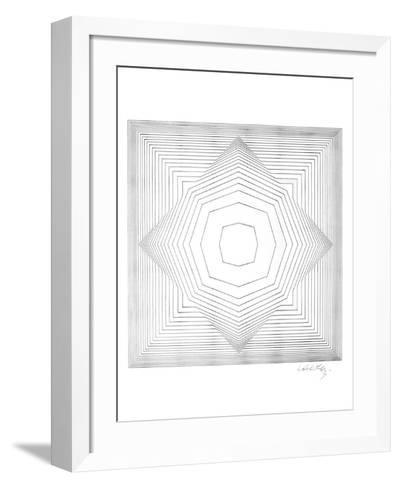 Star-Victor Vasarely-Framed Art Print