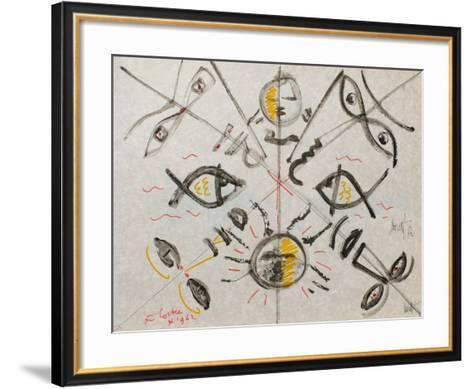 L'?ge Du Verseau : Le Regard-Jean Cocteau-Framed Art Print