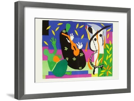 Verve - Tristesse Du Roi-Henri Matisse-Framed Art Print