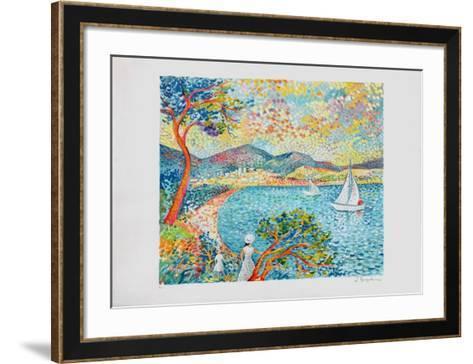 La Voile Blanche-Lucien Neuquelman-Framed Art Print