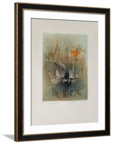 Les CavaIIers De Brume--Framed Art Print