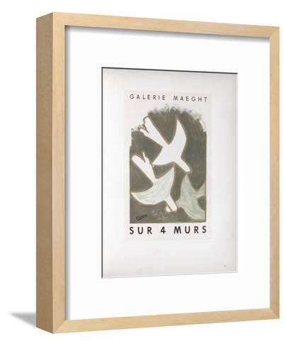 AF 1956 - Galerie Maeght Sur 4 Murs-Georges Braque-Framed Art Print