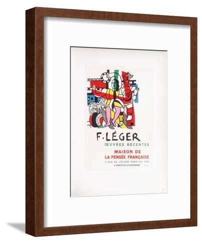 AF 1954 - Maison De La Pens?e Fran?aise-Fernand Leger-Framed Art Print