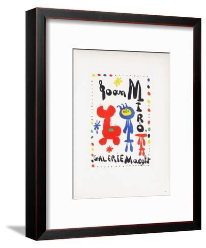 AF 1949 - Galerie Maeght-Joan Mir?-Framed Art Print