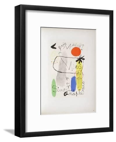 AF 1950 - Galerie Maeght-Joan Mir?-Framed Art Print