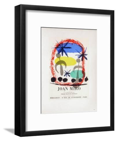 AF 1959 - Constellations Chez Berggruen-Joan Mir?-Framed Art Print