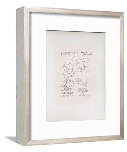 AF 1951 - Exposition Hispano-Américaine III-Pablo Picasso-Framed Art Print