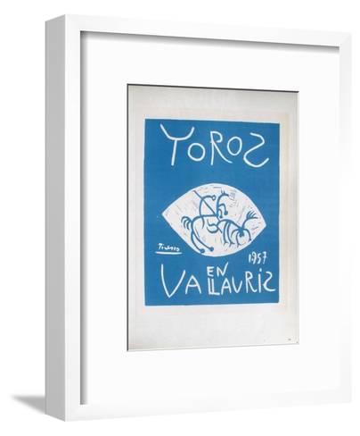 AF 1957 - Toros en Vallauris-Pablo Picasso-Framed Art Print