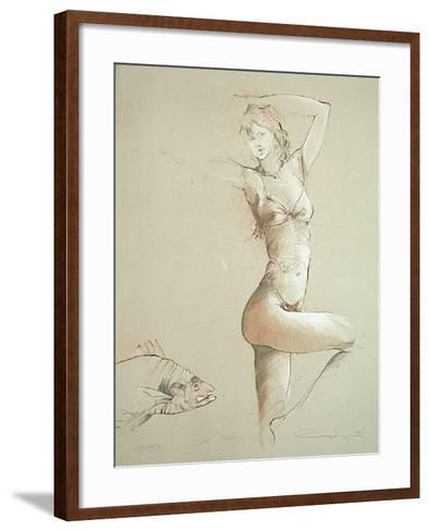 Der Fisch-J?rgen G?rg-Framed Art Print