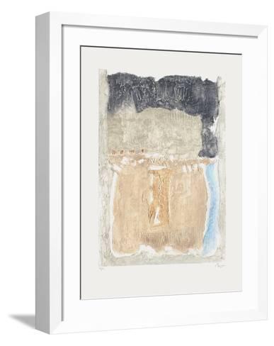 Fresque Bleue I-Thierry Buisson-Framed Art Print