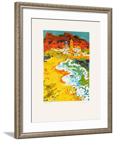 La Plage-Guy Charon-Framed Art Print