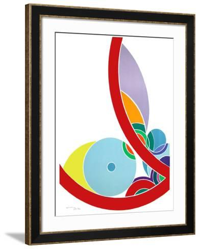 Trait Rouge Trait Bleu-John Levee-Framed Art Print