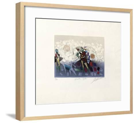 Herbe Bleue-Georges Dussau-Framed Art Print